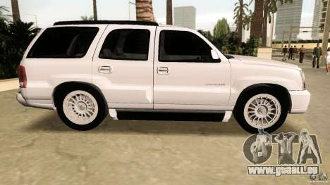 Cadillac Escalade pour une vue GTA Vice City de la gauche