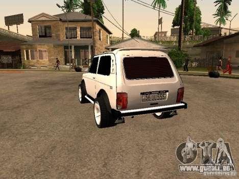 Armenian NIVA DORJAR 4 x 4 pour GTA San Andreas sur la vue arrière gauche