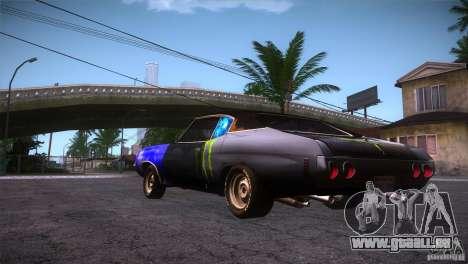 Chevrolet Chevelle SS DC pour GTA San Andreas sur la vue arrière gauche