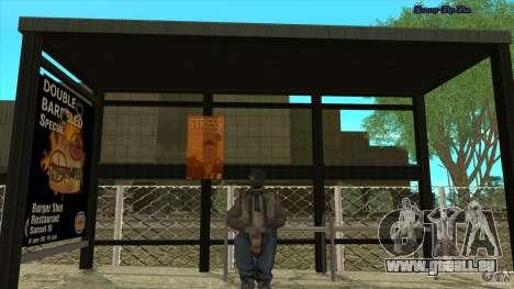 Arrêts de bus en HD pour GTA San Andreas troisième écran