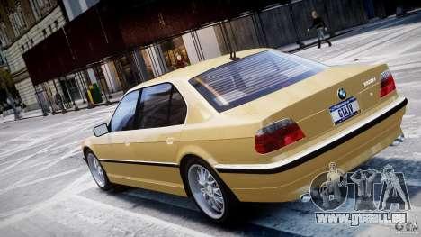 BMW 750i v1.5 pour GTA 4 vue de dessus