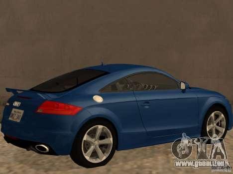Audi TT RS für GTA San Andreas zurück linke Ansicht
