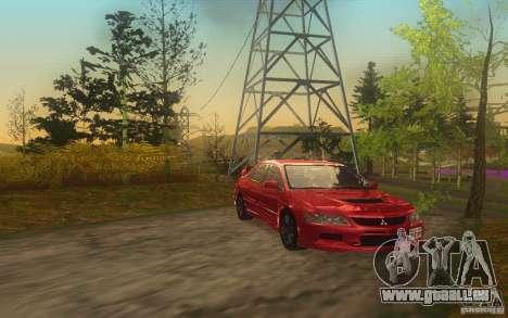 Mitsubishi Lancer Evolution IX 2006 MR v2 pour GTA San Andreas sur la vue arrière gauche