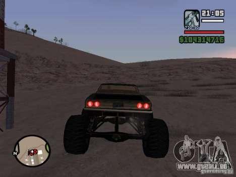 Monster Tampa pour GTA San Andreas sur la vue arrière gauche