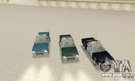 Plymouth Duster 340 Police pour GTA San Andreas vue intérieure