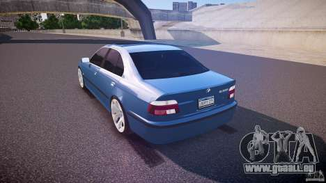 BMW 530I E39 e63 white wheels für GTA 4 hinten links Ansicht