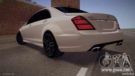 Mercedes-Benz S65 AMG pour GTA San Andreas vue intérieure