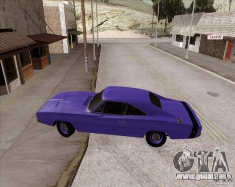 Dodge Charger RT 440 1968 pour GTA San Andreas vue de droite