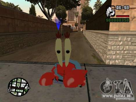 Mr. Krabs für GTA San Andreas dritten Screenshot