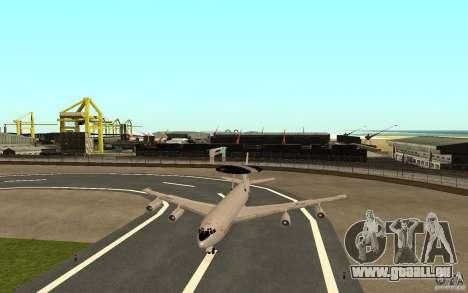 Boeing E-3 Sentry pour GTA San Andreas vue arrière