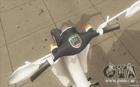 Honda Super Cub avec un chariot pour GTA San Andreas vue arrière