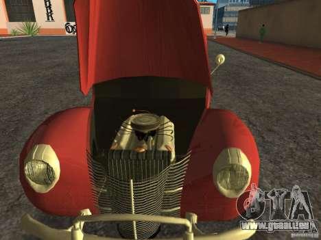 Ford 1940 v8 pour GTA San Andreas sur la vue arrière gauche