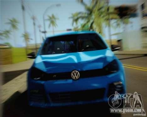 Volkswagen Golf R 2010 pour GTA San Andreas sur la vue arrière gauche