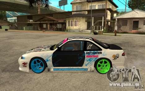 Nissan Silvia S14 Drift Bomb pour GTA San Andreas laissé vue