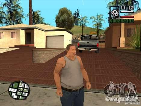Cj blanc pour GTA San Andreas quatrième écran