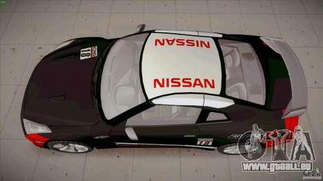 Nissan GT-R  AMS Alpha 12 pour GTA San Andreas vue de droite