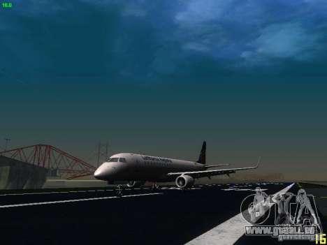 Embraer ERJ 190 Lufthansa Regional für GTA San Andreas linke Ansicht