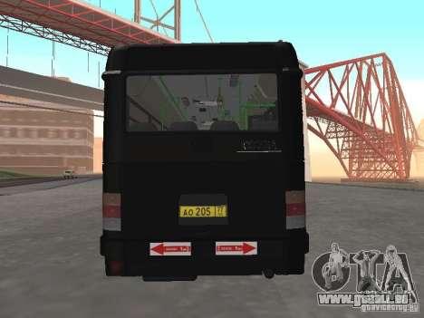 Autobus 6222 pour GTA San Andreas vue de droite