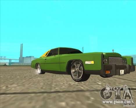 Cadillac Eldorado pour GTA San Andreas laissé vue