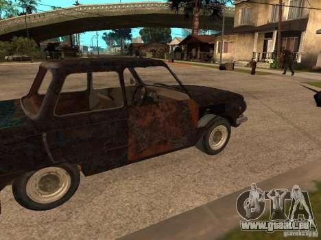 ZAZ-968 abandonné pour GTA San Andreas vue de droite