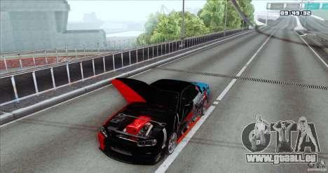 Nissan Skyline R34 Evil Empire für GTA San Andreas zurück linke Ansicht
