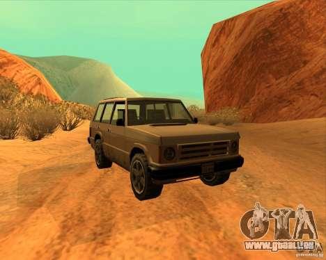 Huntley 1987 San Andreas Stories pour GTA San Andreas sur la vue arrière gauche