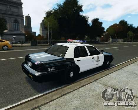 Ford Crown Victoria LAPD pour GTA 4 Vue arrière de la gauche