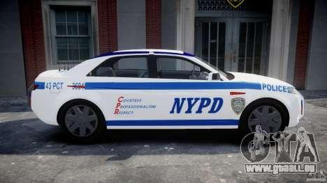 Carbon Motors E7 Concept Interceptor NYPD [ELS] für GTA 4 linke Ansicht