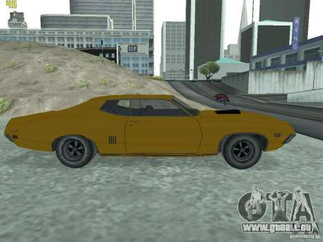 Ford Torino 70 pour GTA San Andreas sur la vue arrière gauche