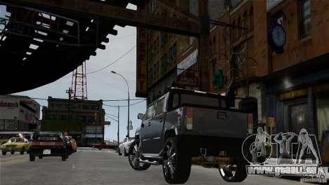 Hummer H2 SUT pour GTA 4 Vue arrière de la gauche