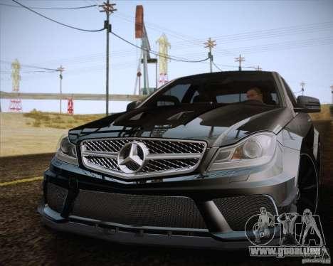 Mercedes-Benz C63 AMG Black Series für GTA San Andreas