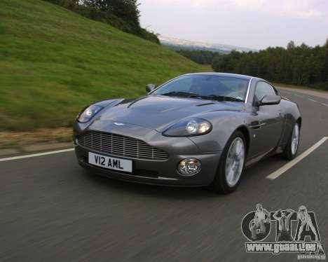 Aston Martin V12 Vanquish 6.0 i V12 48V für GTA Vice City rechten Ansicht