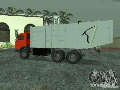 Camion à ordures 53215 KAMAZ pour GTA San Andreas laissé vue