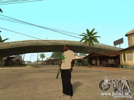 T-shirt avec de l'herbe pour GTA San Andreas deuxième écran