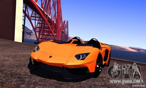 Lamborghini Aventador J für GTA San Andreas Seitenansicht