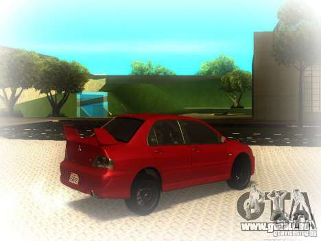Mitsubishi Lancer Evolution IX MR 2006 für GTA San Andreas rechten Ansicht