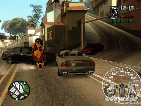 Spyder Cambriocorsa pour GTA San Andreas vue intérieure