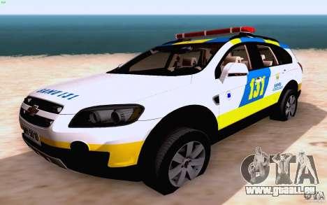 Chevrolet Captiva Police für GTA San Andreas Seitenansicht