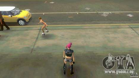 Girl Player mit 11skins für GTA Vice City Screenshot her