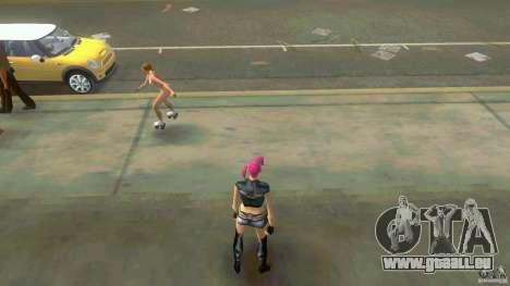 Girl Player mit 11skins für GTA Vice City Screenshot her