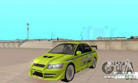 Mitsubishi Lancer Evo The Fast and the Furious 2 pour GTA San Andreas