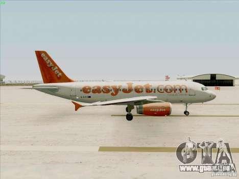 Airbus A319 Easyjet pour GTA San Andreas vue arrière