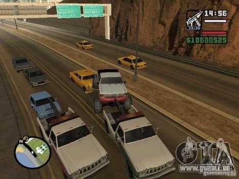 PKW mit Anhänger für GTA San Andreas achten Screenshot