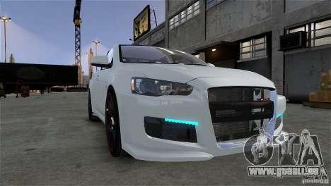 Mitsubishi Lancer Evo X pour GTA 4 Vue arrière