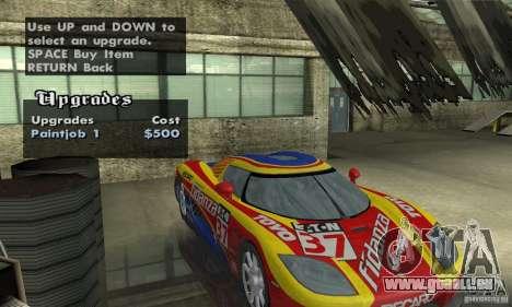 Koenigsegg CCX (v1.0.0) pour GTA San Andreas vue arrière