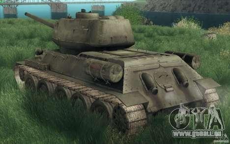 T-34-85 depuis le jeu COD World at War pour GTA San Andreas vue intérieure