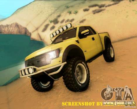 Ford F150 2011 SVT RapTor pour GTA San Andreas salon