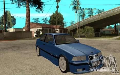 BMW M3 E36 1997 pour GTA San Andreas vue arrière