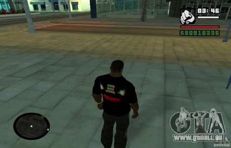 Harte Bass-t-shirt. für GTA San Andreas zweiten Screenshot