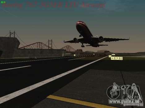 Boeing 767-3G5ER LTU Airways pour GTA San Andreas vue de dessous